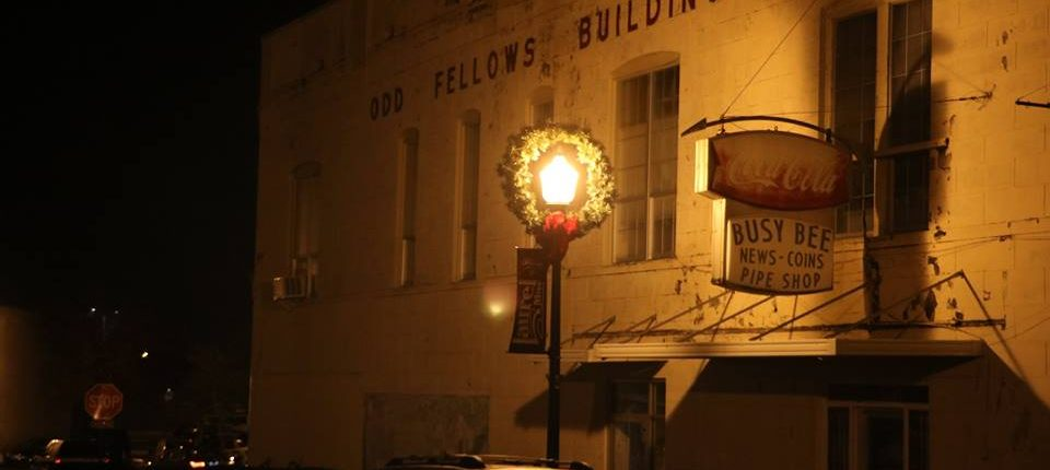 Odd Fellows Building at Christmas, Laurel MS, 2017