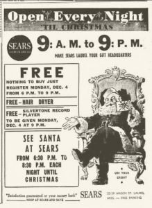 Sears Ad in Laurel MS Newspaper