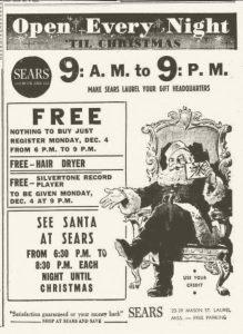 Sears Ad in Laurel MS Newspaper