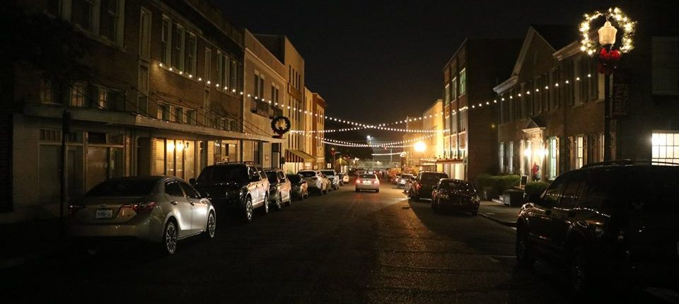 Central Avenue at Christmas, Laurel MS, 2017